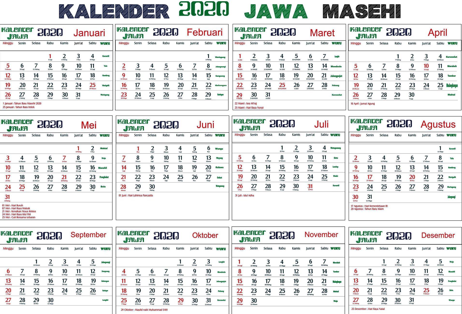 kalender jawa weton