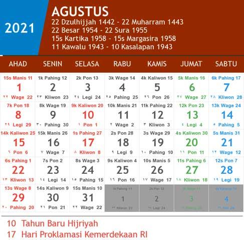 Kalender 2021 Lengkap Hari Libur Nasional Dan Cuti Bersama ...
