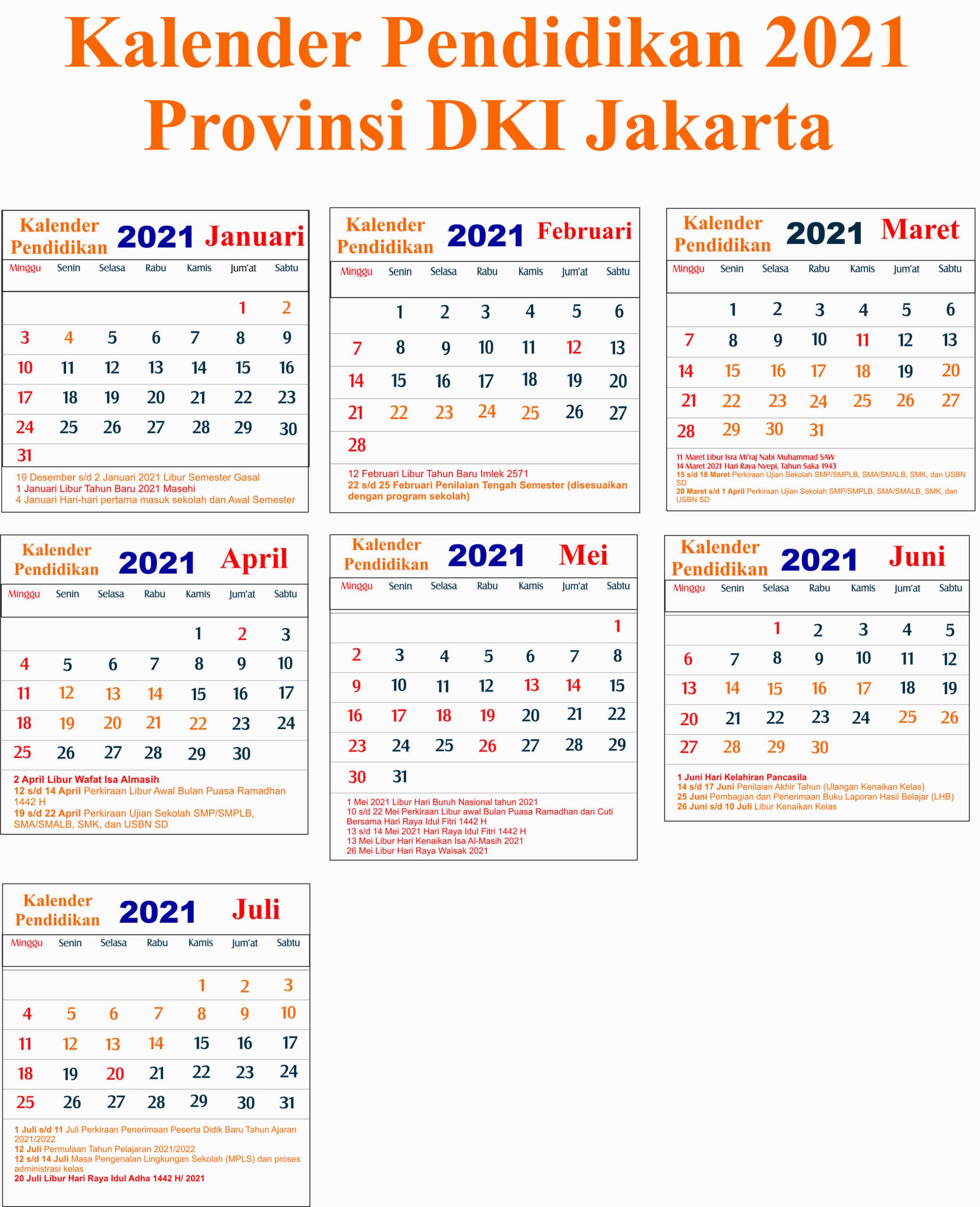 kalender pendidikan 2021 dki jakarta
