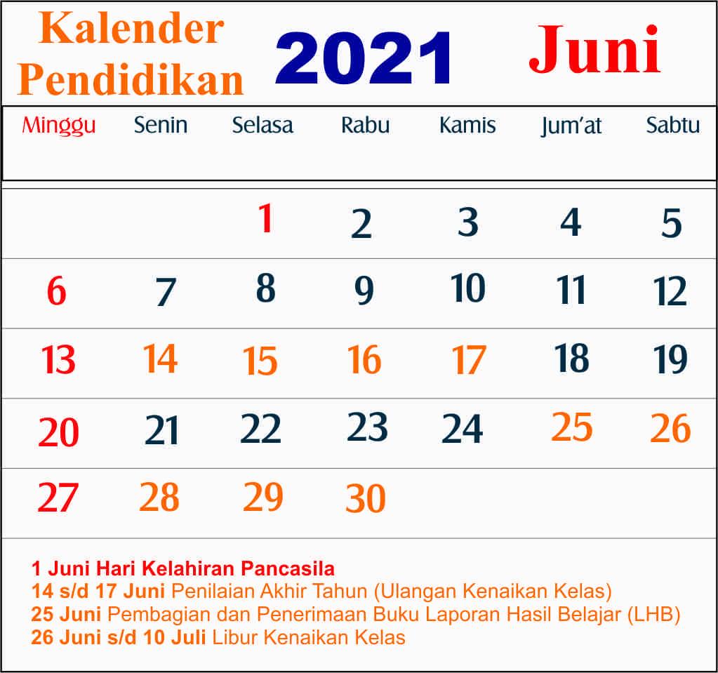 kalender pendidikan juni 2021 dki jakarta