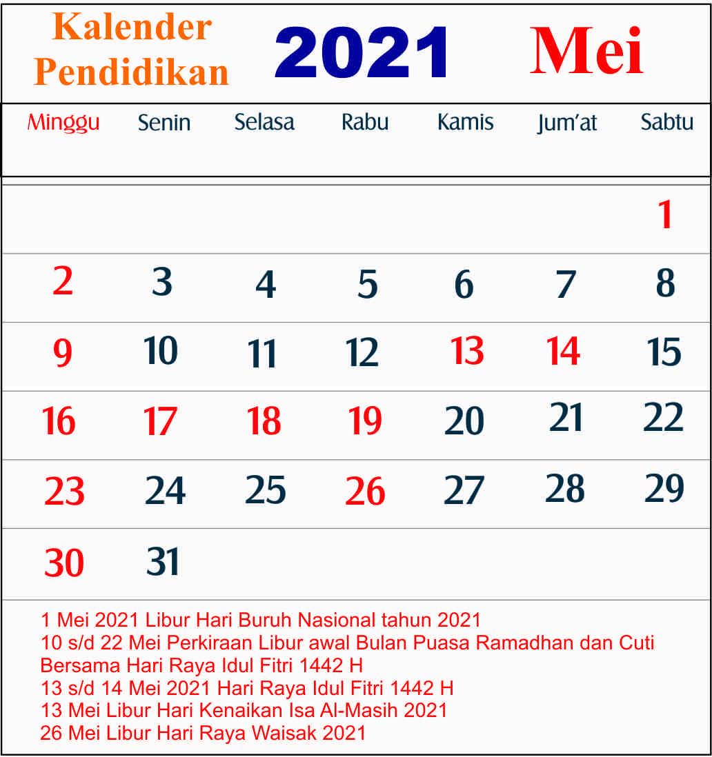 kalender pendidikan mei 2021 dki jakarta