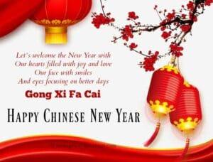 May peace bring good fortune Gong Xi Fa Cai