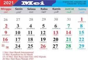 kalender mei 2021