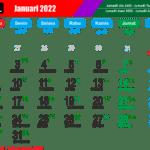 Kalender Bulan Januari Tahun 2022 Daftar Hari Libur Nasional