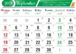 Kalender jawa september 2021 lengkap weton
