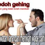 jodoh gehing tidak boleh menikah