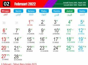 kalender imlek 2022