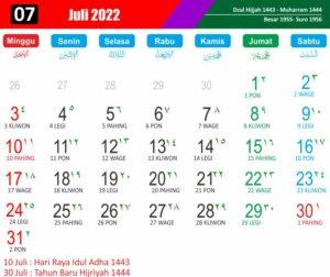 kalender islam 2022