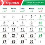 kalender september 2021